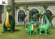 Garden Large DinosaurLife Size Fiberglass Statues Cartoon Shape For Outside Decoration