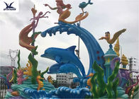 Amusement Park Facility  Life Size Outdoor Statues , Large Outdoor Animal Statues